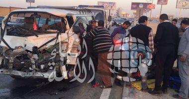 إصابة 7 أمناء شرطة فى انقلاب ميكروباص على طريق إسكندرية الزراعى